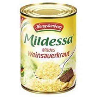 Hengstenberg Mildessa Mild Weinsauerkraut 580 ml