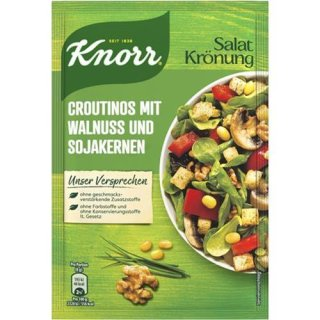Knorr Salatkrönung croutinos with walnut and soya beans
