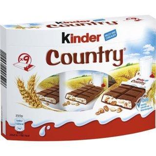 Kinder Country 9er Box | Deutsche Schokolade mit Cerealien | Getreide