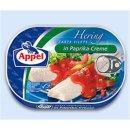 Hering mit Paprika Creme
