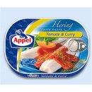 Herring with tomato curry cream