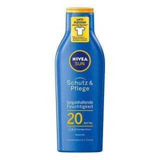 Nivea Schutz & Pflege Sonnenmilch LSF 20, 250 ml