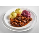 Goulash with Thuringian dumplings and red cabbage (2 pers)