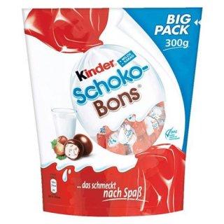 Kinder Schoko Bons 300g  | Deutsche Pralinen mit Milchcreme und Haselnusssplitter