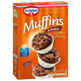 Dr. Oetker baking mix muffins choco with chocolate chips 370 g
