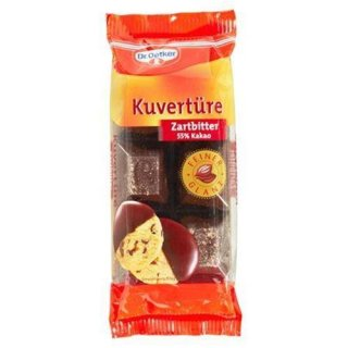 Dr. Oetker couverture bittersweet 55% cocoa 150 g package