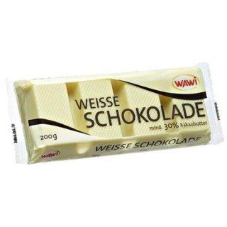 Wawi Kuvertüre weiße Schokolade 200 g