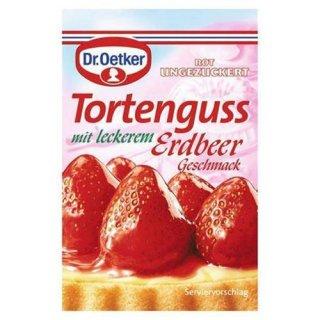 Dr. Oetker cakes glaze red strawberry, 3 pieces á 36 g 108 g bag
