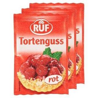 Ruf Tortenguss rot, 3 Stück · 12 g