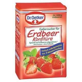 Dr. Oetker gelling sugar strawberry jam 500 g bag
