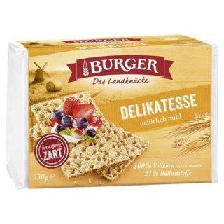 Burger crispbread delicacy Delikatess from 100% rye wholegrain 250 g package