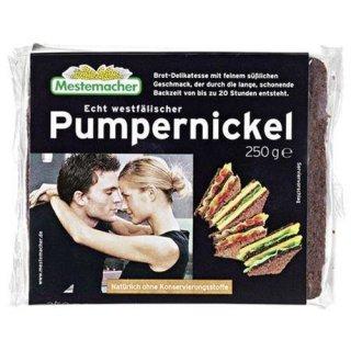 Mestemacher Pumpernickel real Westphalian, ready to eat, cut 250 g package