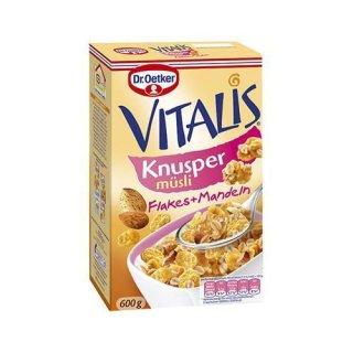 Dr. Oetker Vitalis Knuspermüsli Flakes + Mandeln
