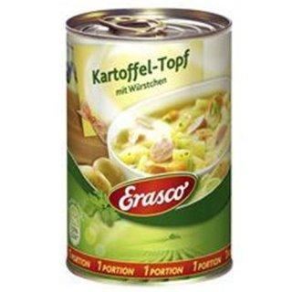 Erasco potato pot with sausages