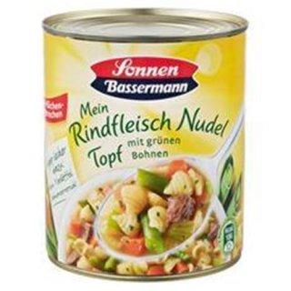 Sonnen Bassermann Mein Rindfleisch Nudel Topf mit grünen Bohnen