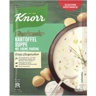 Knorr Feinschmecker Kartoffel Suppe mit Creme fraiche