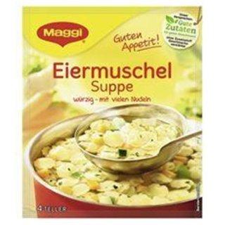 Maggi egg shell soup