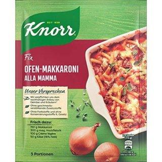 Knorr fix oven macaroni alla mamma