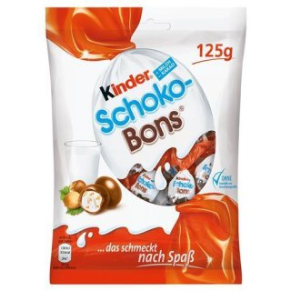Kinder Schoko Bons - Chocolate Balls - Filled With A Mixture Of Milk Cream And Pieces Of Hazelnut